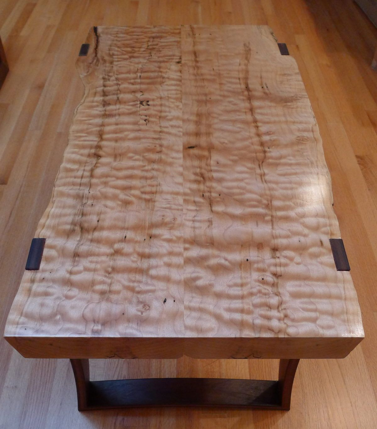 This Is A Curly Maple And Ipe Coffee Table That I Just Finished