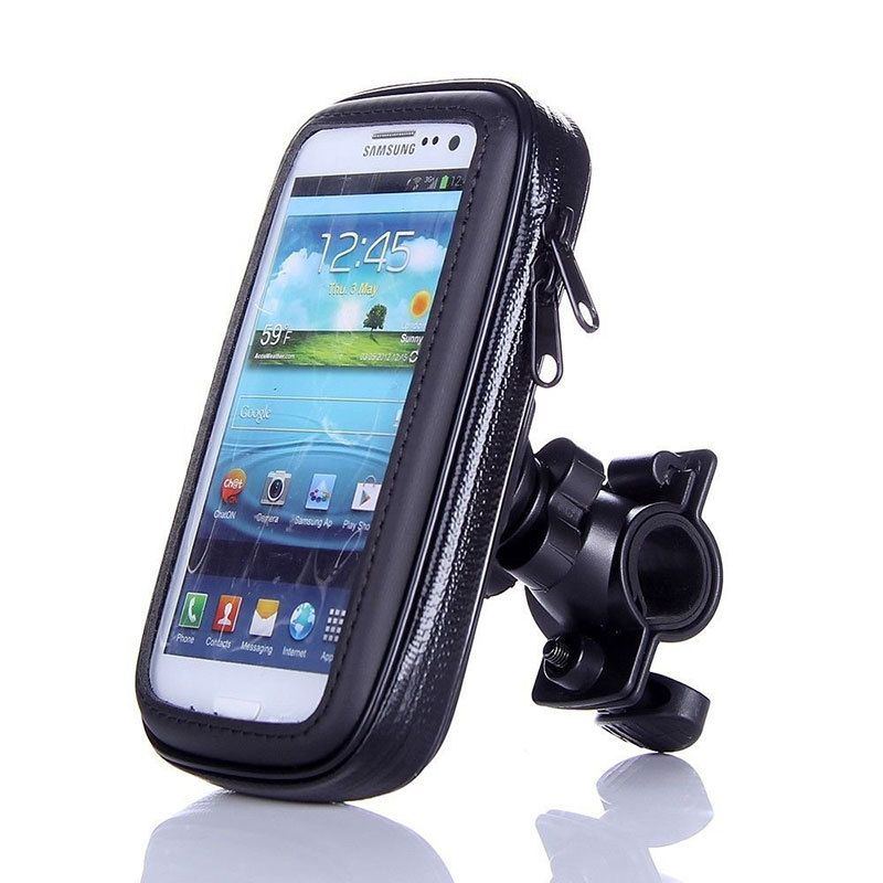 Universal Waterproof Phone Case Mount Holder For Mobiles 360 Degree Bicycle Bike