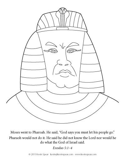 moses meanpharaoh coloring page mean pharaoh