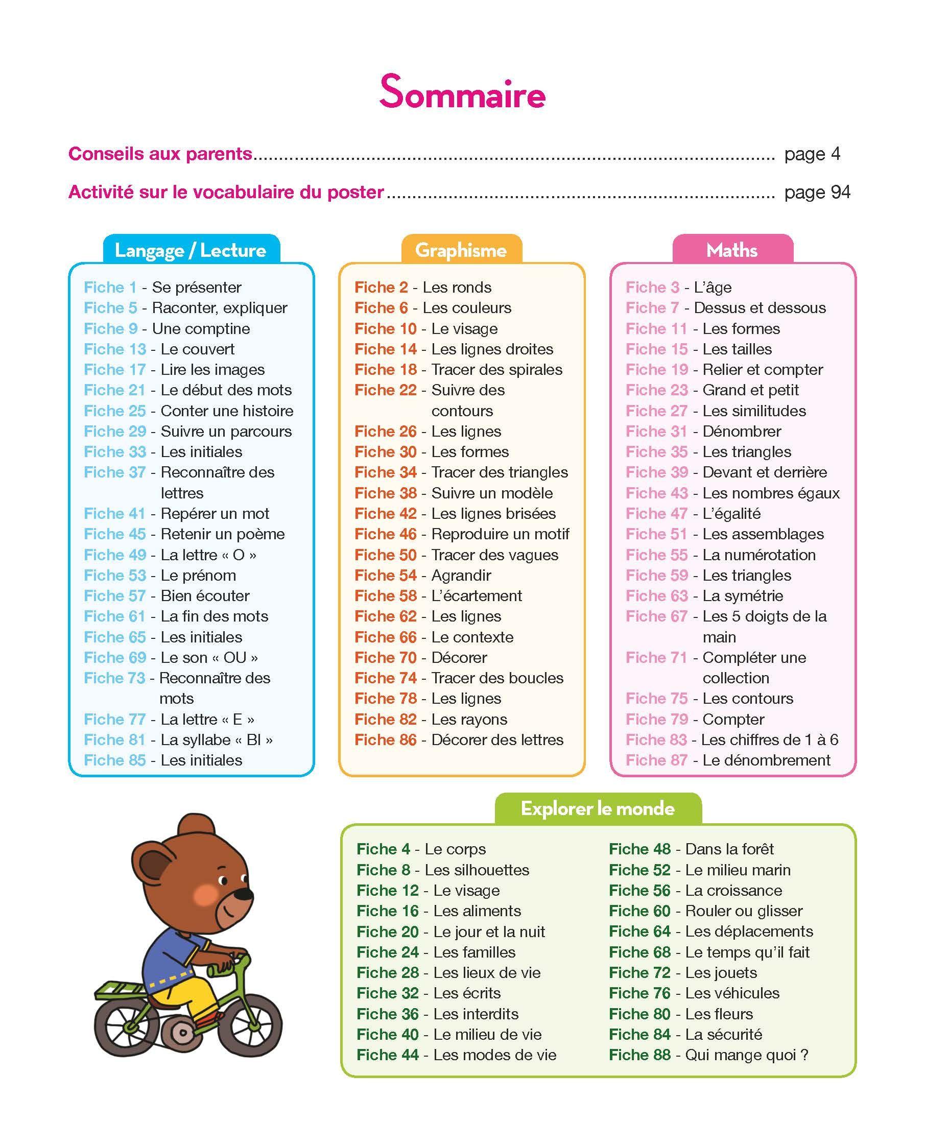 Sommaire Toute Ma Maternelle Tout Le Programme Petite Section Hachette Education Hachette Programme Petite Section Programme Maternelle Evaluation Maternelle