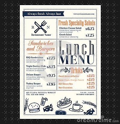 fish and chip shop menu template - menu design restaurants pinterest food pictures