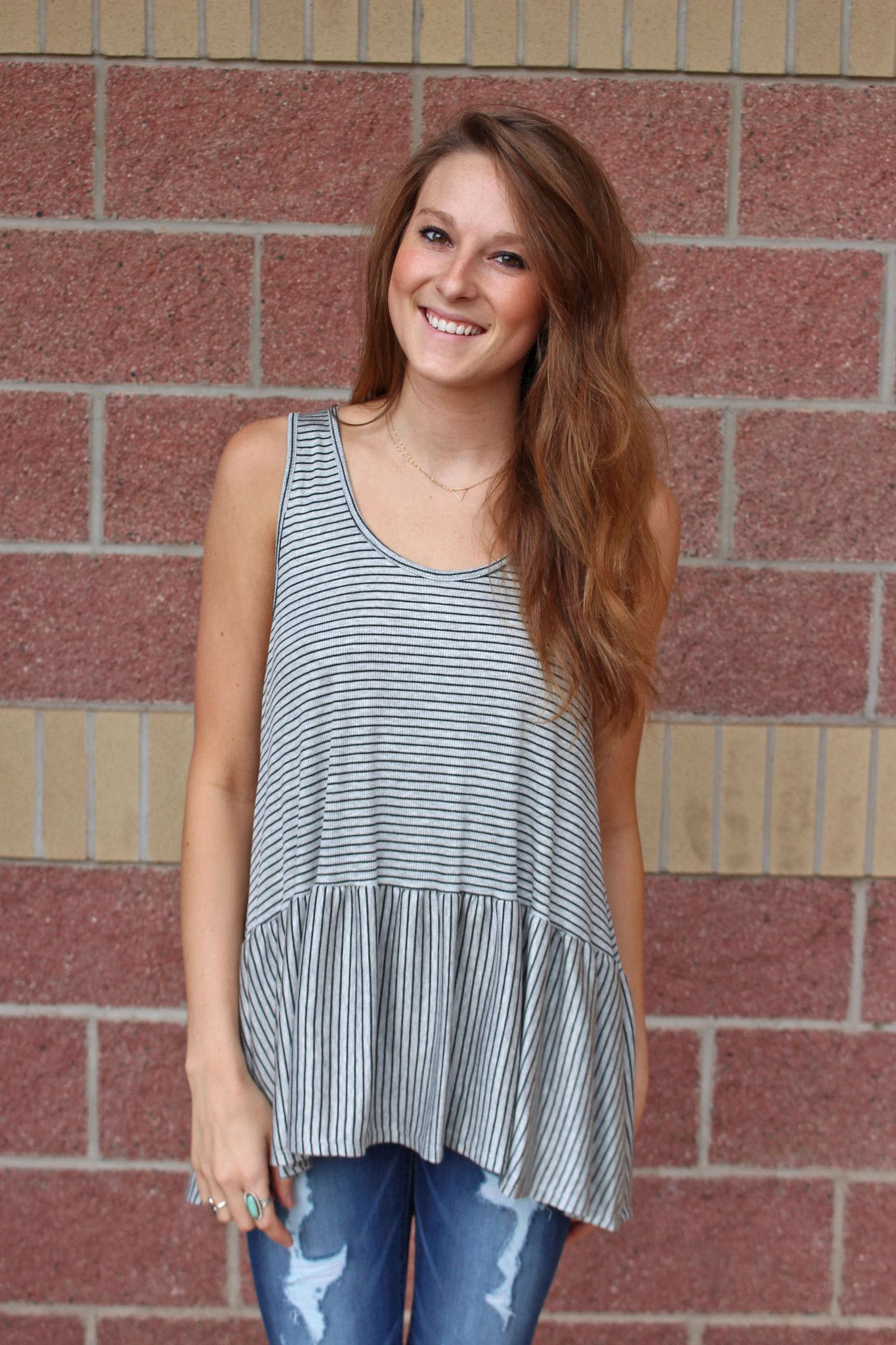 414e19a6abe68 Striped ribbed babydoll tank top-more colors