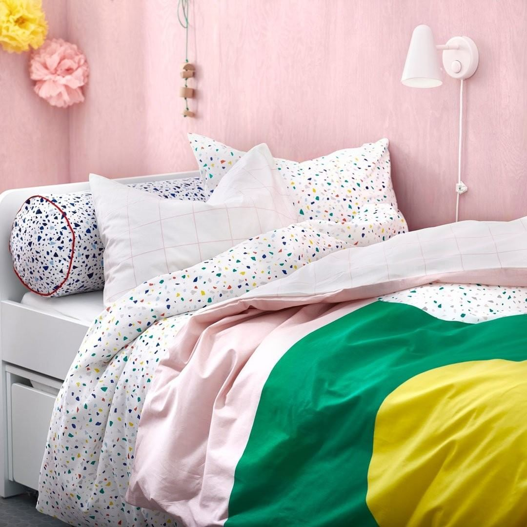 Ikea Usa On Instagram Next Time Your Kids Sleep In You Can Blame It On Our Mojlighet Bedding It Has All You Need To Set Up A Be Cushions Ikea Cushions