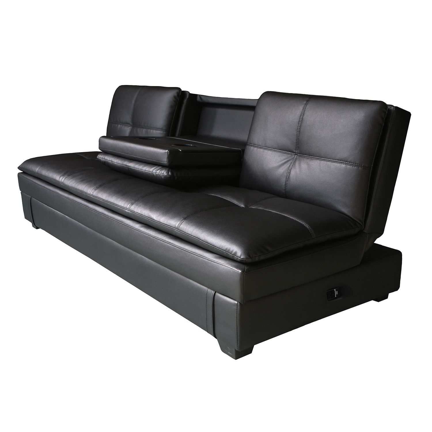 Serta Axis Convertible Storage Sofa With Usb Ports Furniture