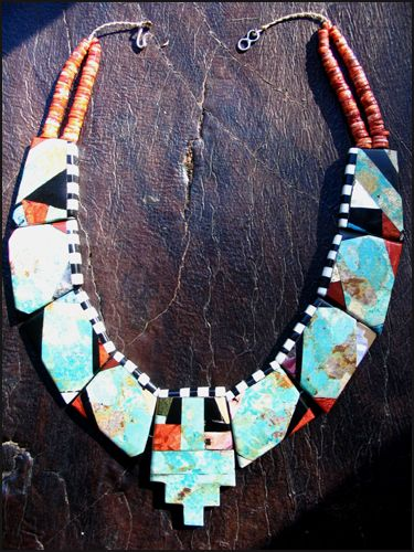 The Deborah Garner Collection - Turquoise and Spondylus Shell Necklace