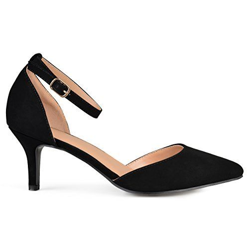 Wear comfortable black kitten heels for a hectic day black