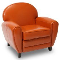 Burnt Orange Leather Cigar Chair ... Cigars Not Required ;)