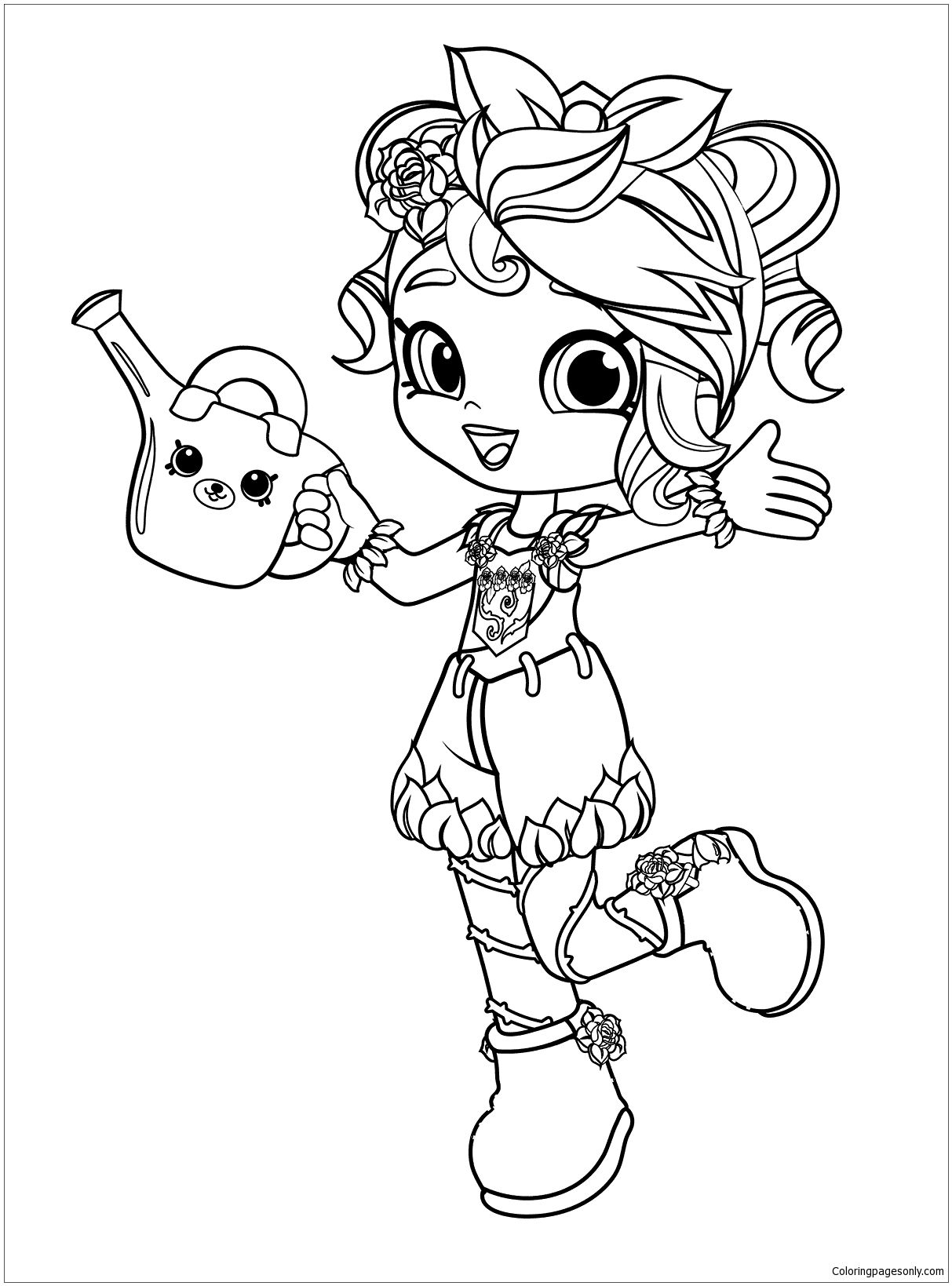 Shopkins Shoppies Ballet Coloring Page