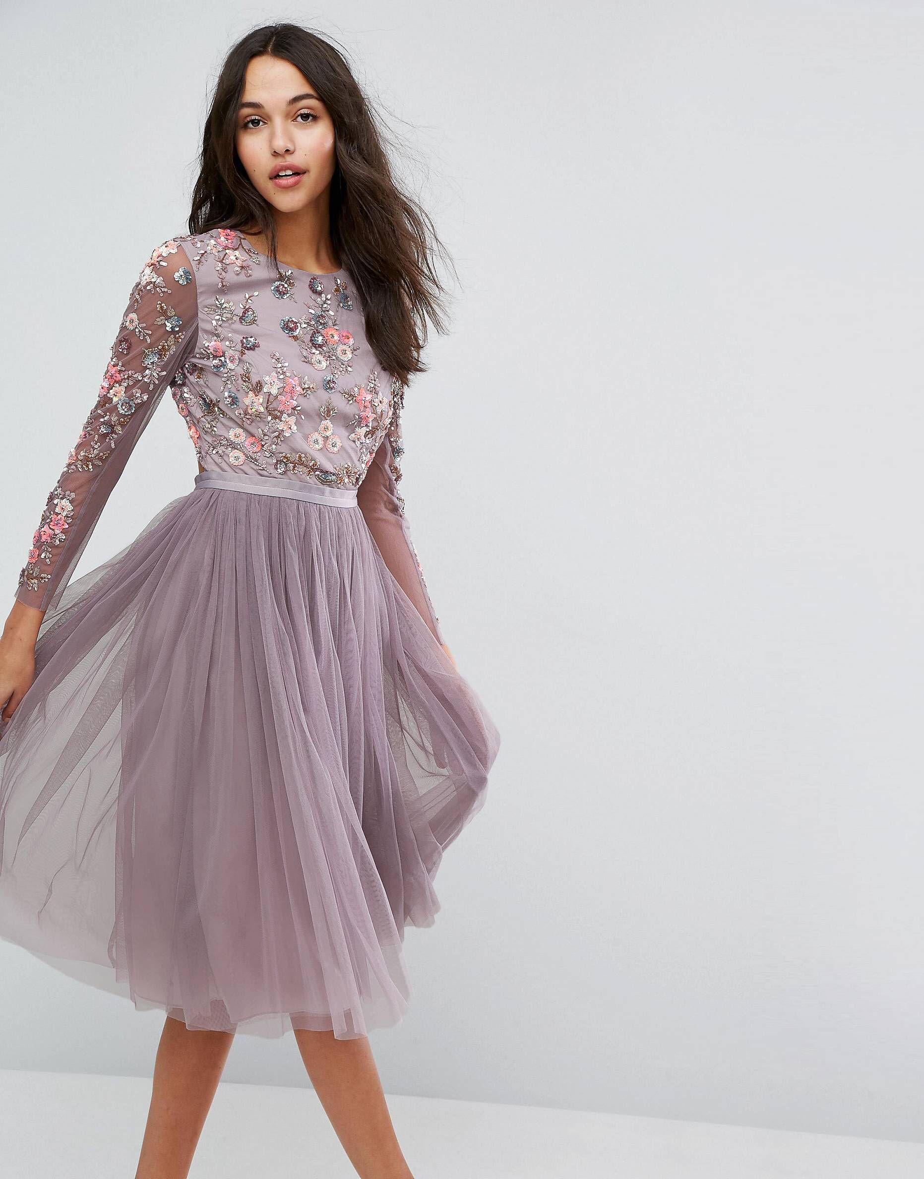 Asos wedding guest dresses with sleeves  LOVE this from ASOS  Платье с вышивкой  Pinterest  Fashion