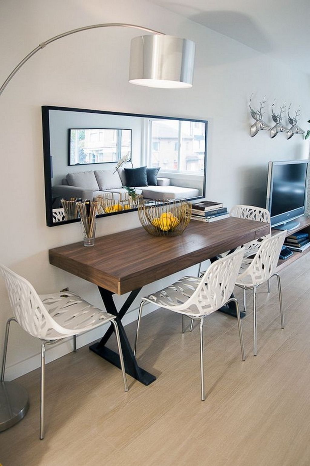 space saving living room decoration ideas for small apartment 16 narrow dining tables small on kitchen interior small space id=83968