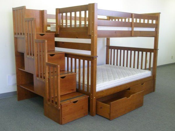 Best Bunk Beds Full Over Full Stairway Expresso 2 Extra 640 x 480