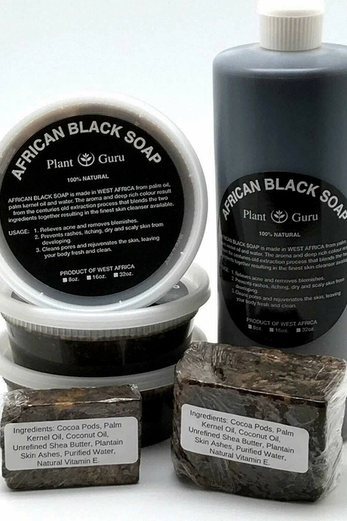 Details About Raw African Black Soap Organic 100 Pure From Ghana