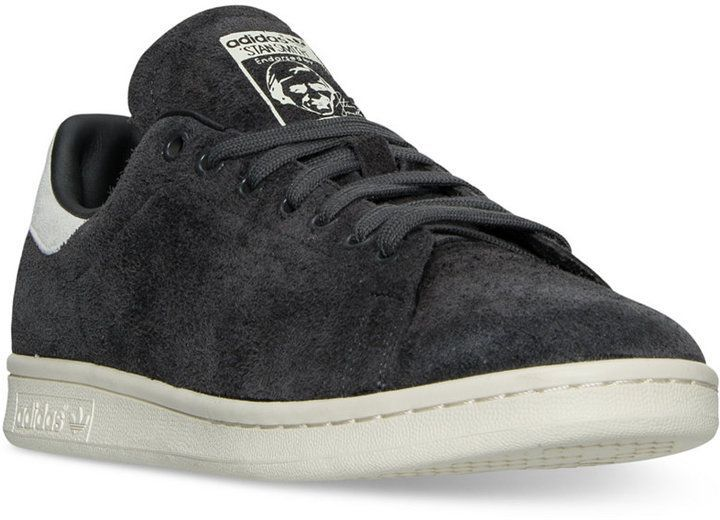 aa25cffbc7995 adidas Men s Stan Smith Suede Bounce Casual Sneakers from Finish Line