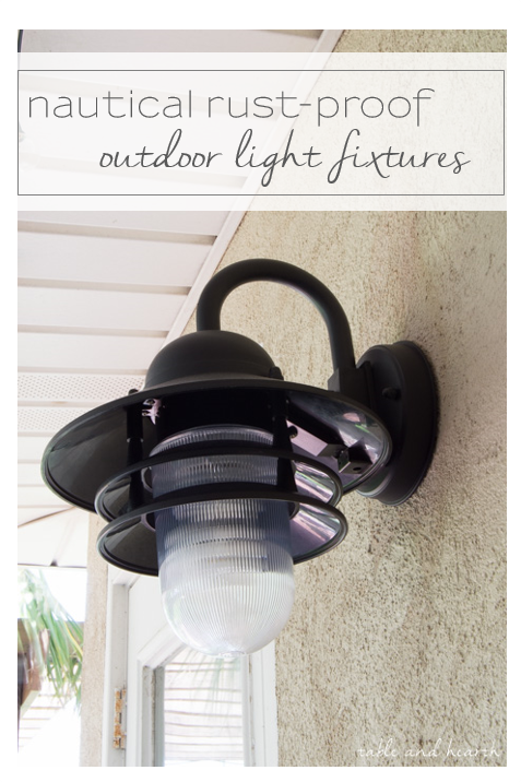 Rust proof outdoor light fixtures we finally found the perfect nautical inspired outdoor light fixtures that wont rust in our salty environment
