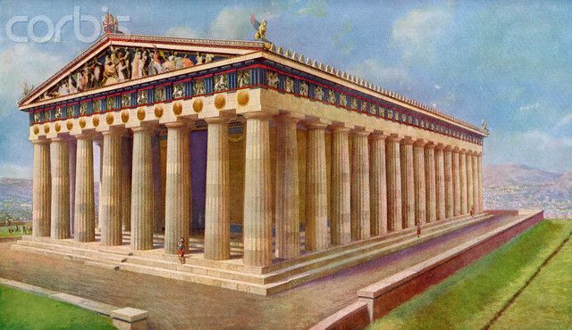 Illustration of Reconstruction of Parthenon | ANCIENT ...