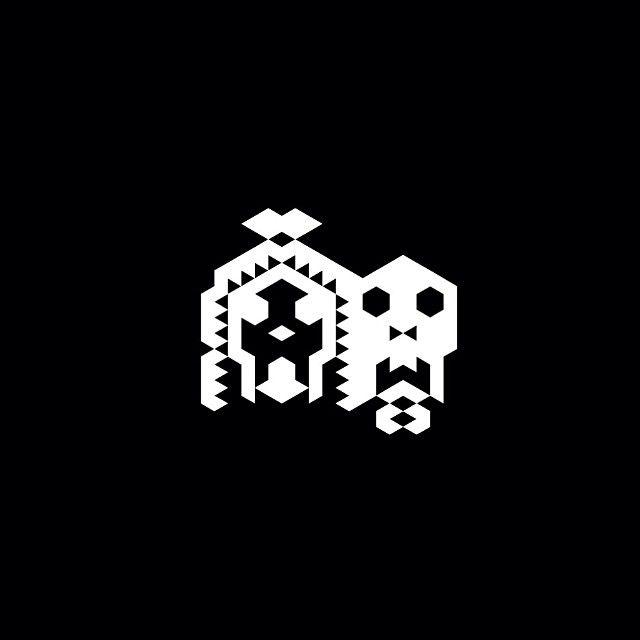 #ppl #boysngirls #couple #skullsinlove #love #illustration #pixelart #triangledraw Joao Ruivo