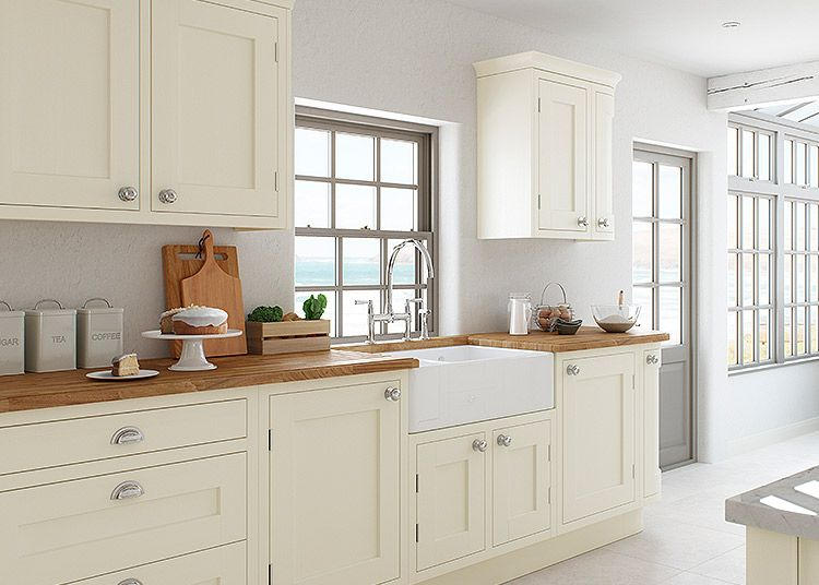 Best Baystone Cream Shaker Inframe Ash Kitchen In 2019 640 x 480