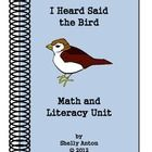 In appreciation for all you do for students, I am offering a free subtraction/addition workshet. It goes along with the book, I Heard Said the Bird...