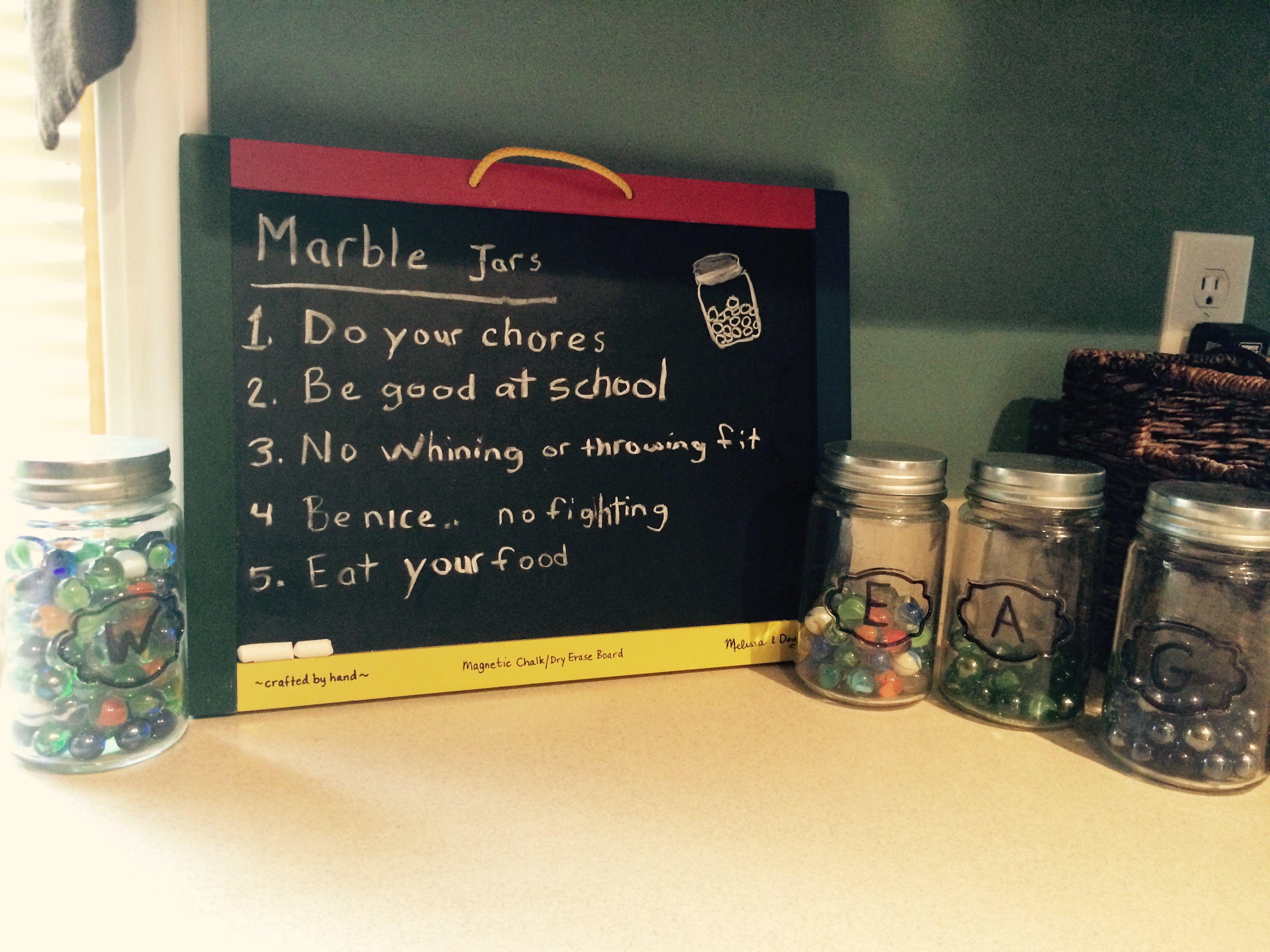 Marble Jar Behavior Reward System Marble Jar Reward System For Kids Kids Behavior