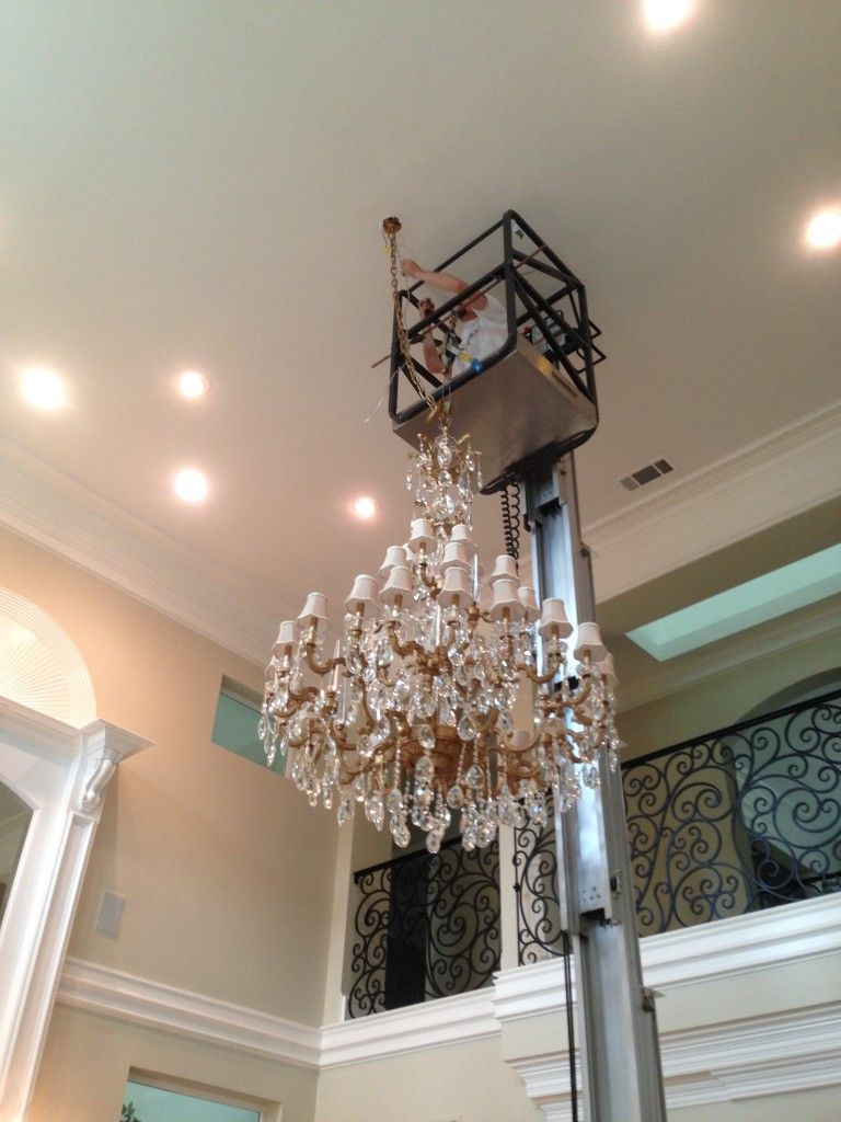 Chandelier installation irving tx call tlc electrical today at chandeliers mozeypictures Choice Image