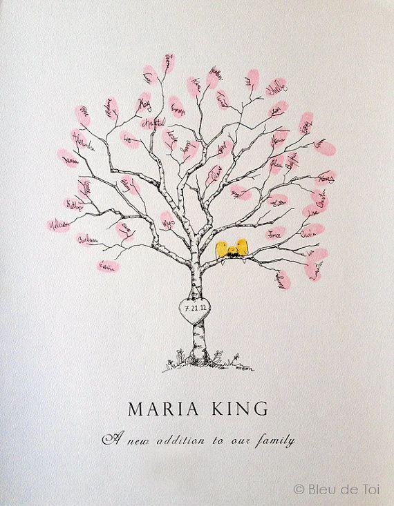 small birch sapling  baby  original guestbook
