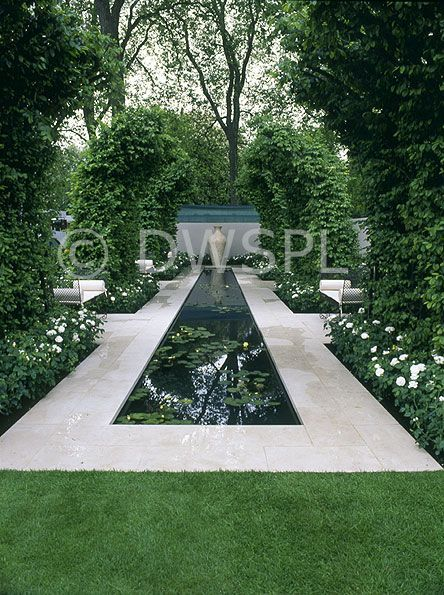 formal garden   pool     no pool for me but like the look