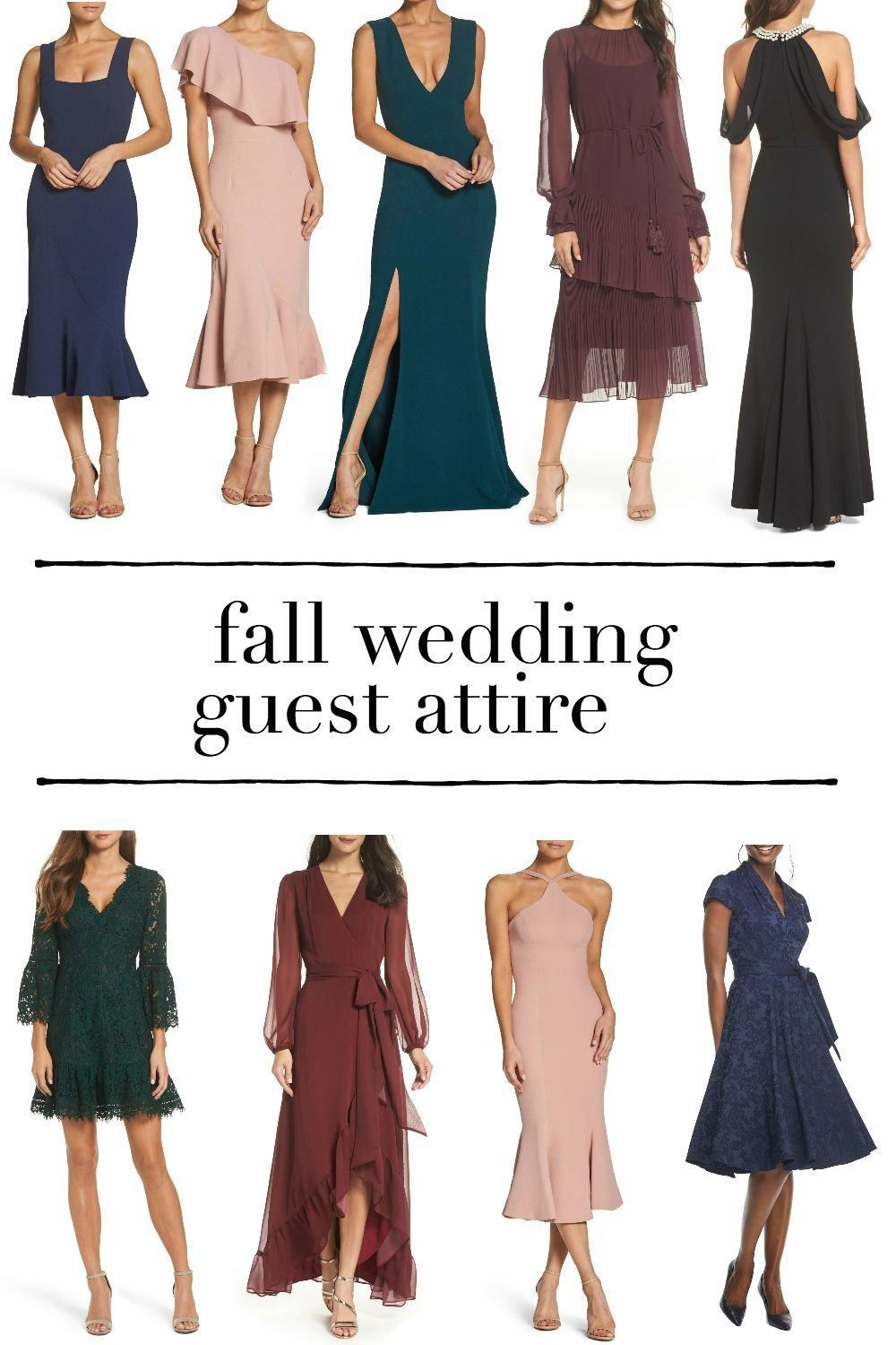 Fall Wedding Guest Dresses 2018 What To Wear To A Fall Wedding Fall Weddin In 2020 Fall Wedding Outfits Wedding Guest Outfit Fall Wedding Attire Guest