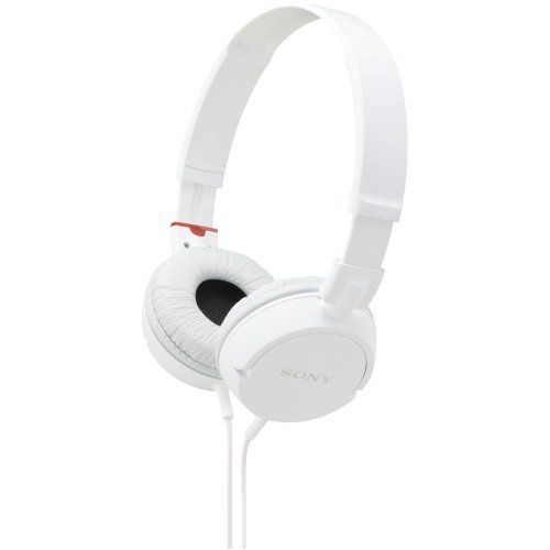 Sony MDR-ZX100 ZX Series Headphones (White) ($9.91)