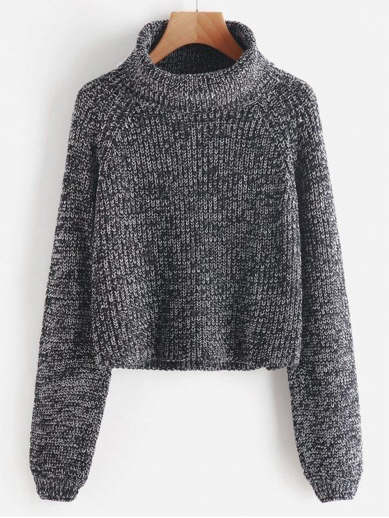 Turtleneck Heathered Pullover Sweater | Turtlenecks, Pullover ...