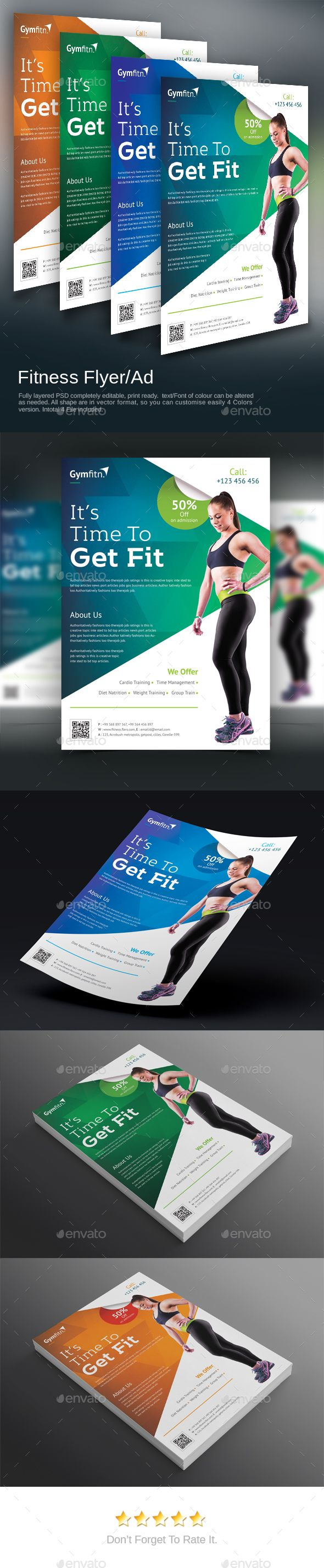 Fitness Flyer - #Sports #Events Download here: https://graphicriver ...