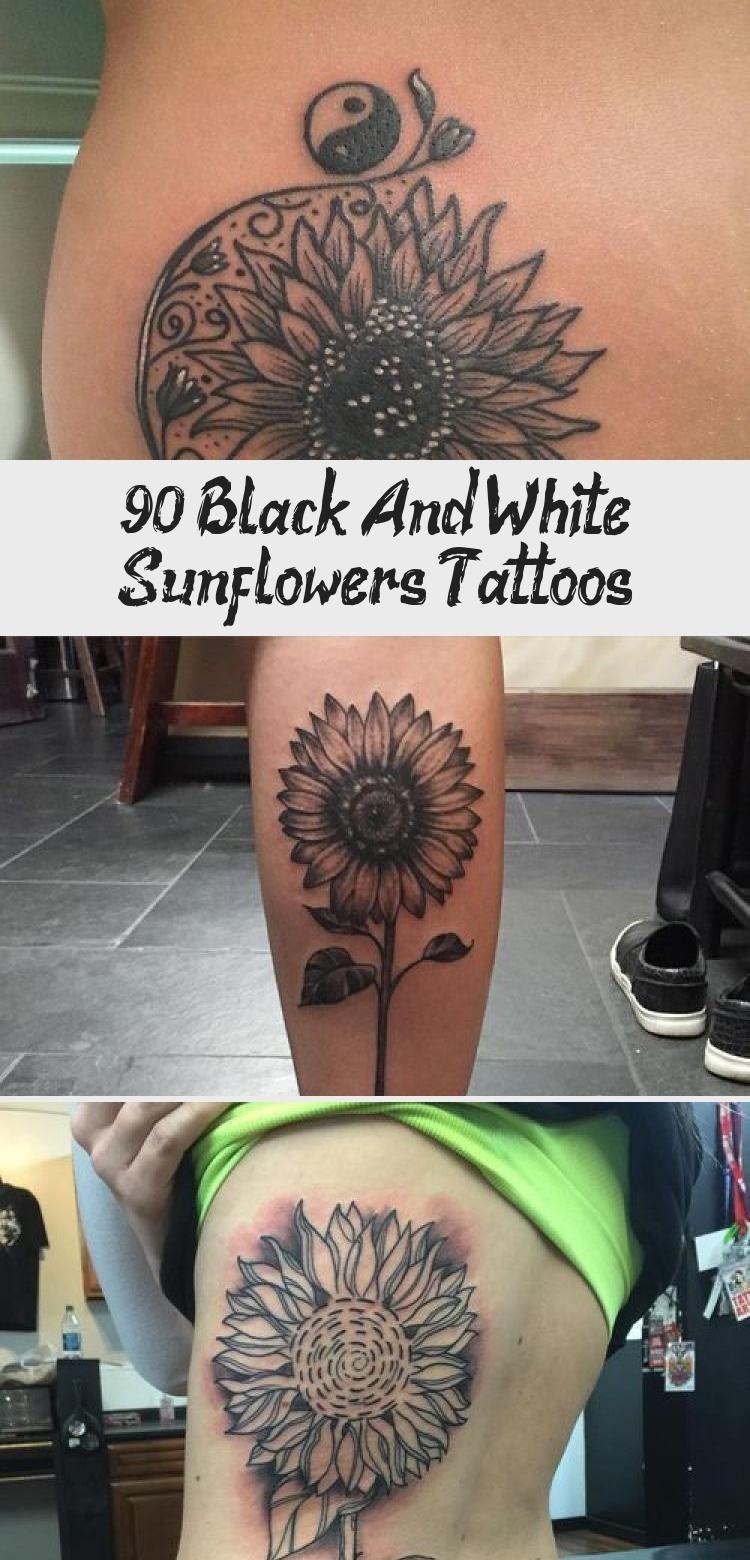 Photo of 90  Black and White Sunflowers Tattoo Design Ideas #blacktattooSimple #blacktatt…