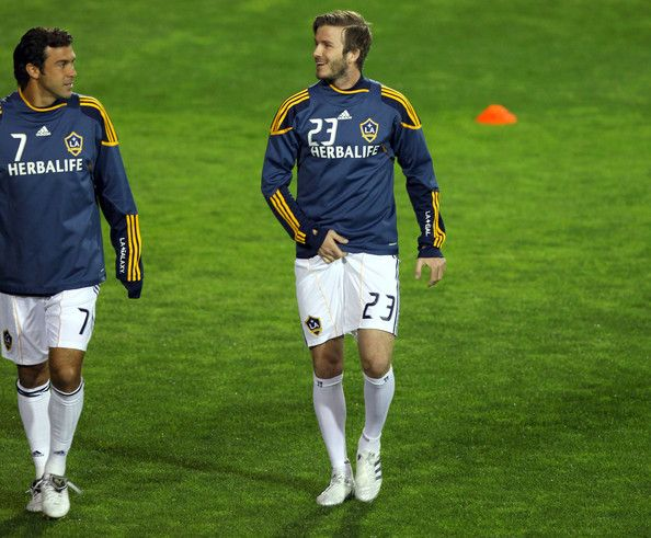 David Beckham in David Beckham And The LA Galaxy Playing A Soccer Match  Against Club Tijuana
