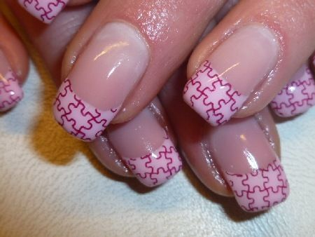 Jigsaw Puzzle Tip Nails