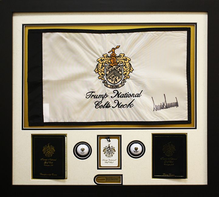 Great fathers day gift idea! Custom framed golf flag with golf balls ...