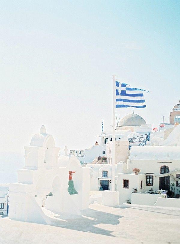 Santorini Honeymoon Shoot on Film