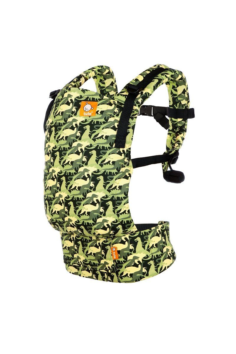 Camosaur Tula Free To Grow Baby Carrier Baby Tula We Spy Some Prehistoric Friends Arriving In Our Tul Baby Backpack Carrier Tula Baby Carrier Baby Carrier