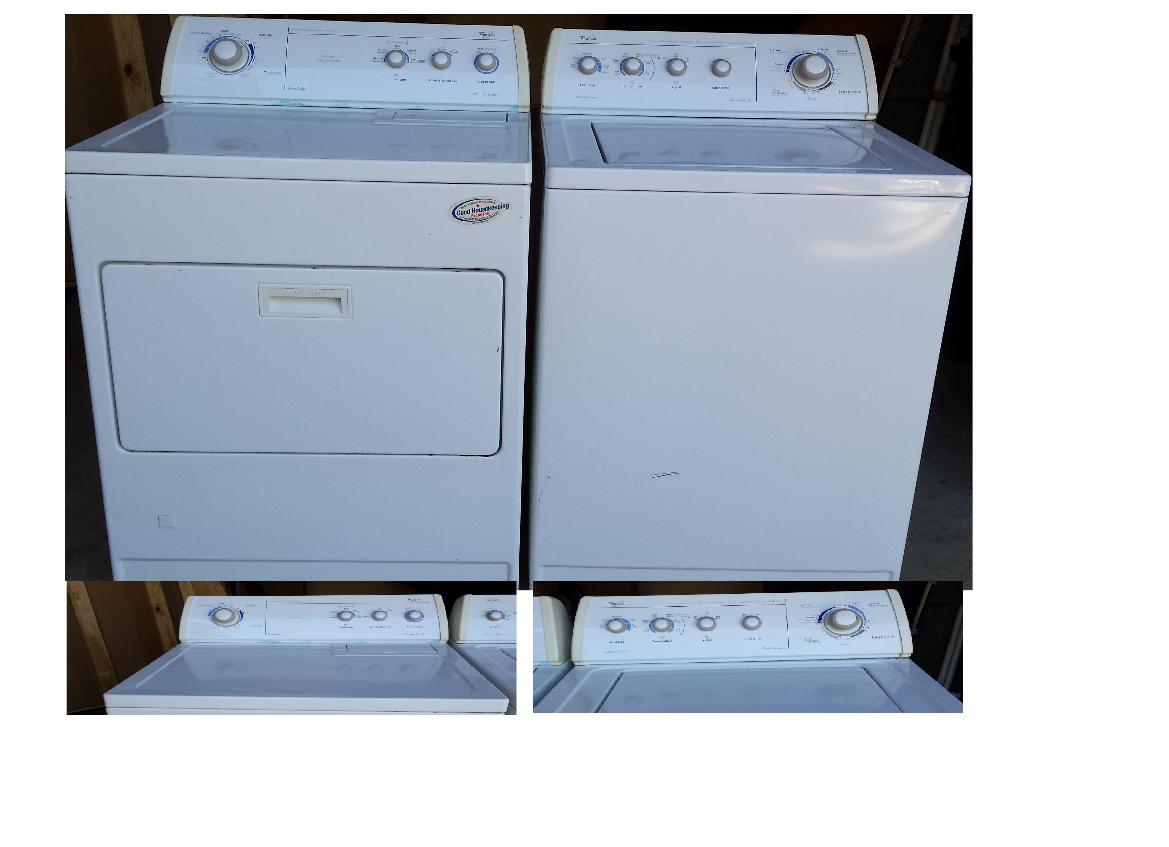 Whirlpool Traditional Washer Gas Dryer In Manueljmary S Garage Sale Denton Tx Garage Refrigerator Maytag Appliances Electric Washer