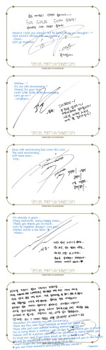Messages from our shining SHINee guys !