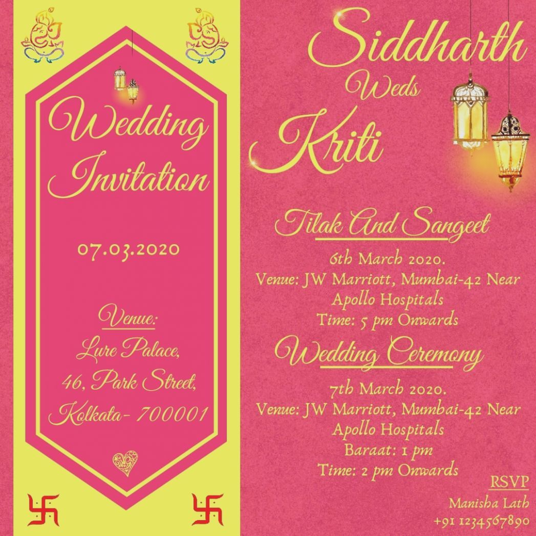5 Marriage Card Online Order