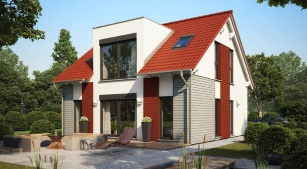 hausentwurf flachdachgaube ein ideales fertighaus f r die familie jetzt ohne aufpreis als kfw. Black Bedroom Furniture Sets. Home Design Ideas