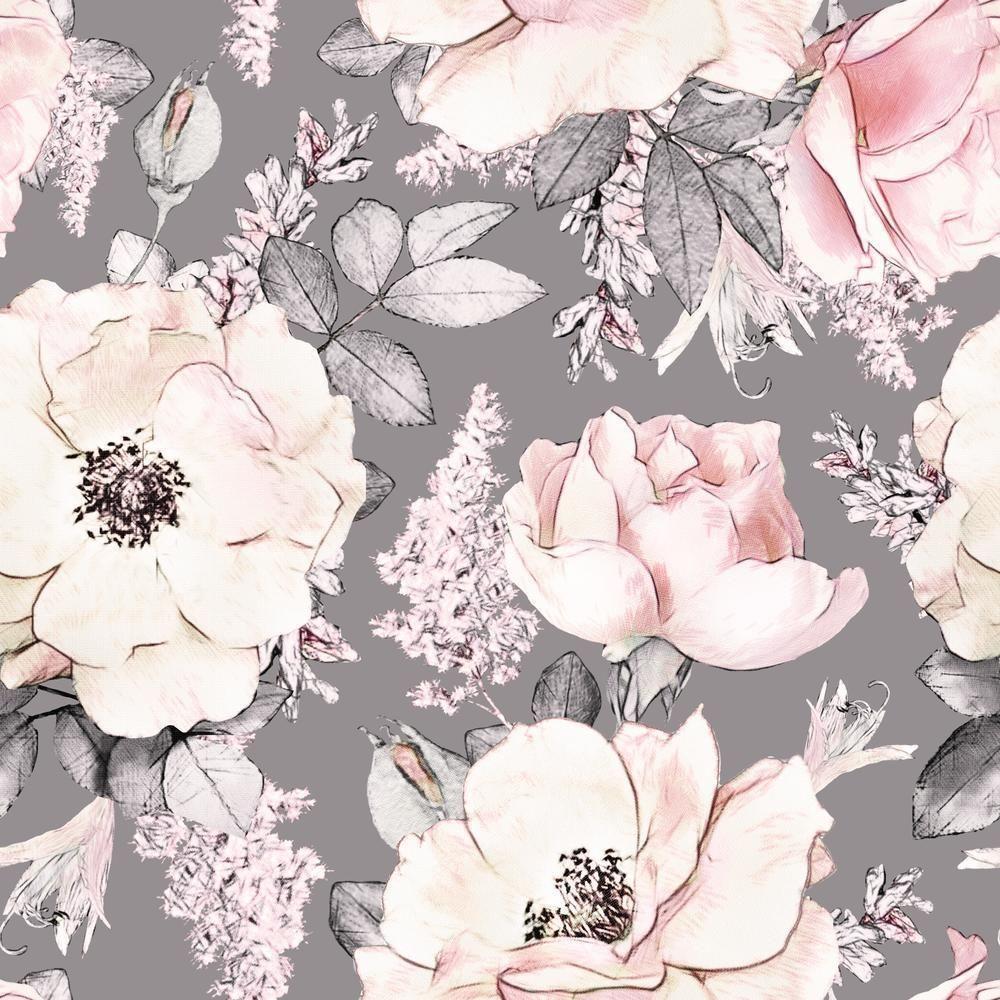 Isadora Wallpaper In 2021 Floral Wallpaper Rose Wallpaper Watercolor Floral Pattern