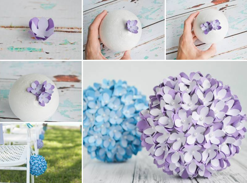Paper flower balls diy instructions flower origami and craft paper flower balls diy instructions easy video instructions mightylinksfo