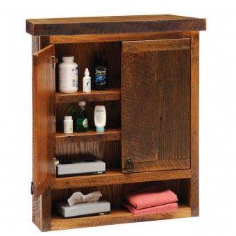 Reclaimed Barn Wood Toilet Topper Cabinet Bathroom Wall Cabinets Wood Wall Bathroom Rustic Bathroom Cabinet