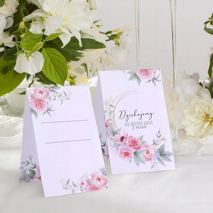 Wizytowki Na Chrzest Komunie Zapach Piwonii 10szt Place Card Holders Place Cards Gift Wrapping
