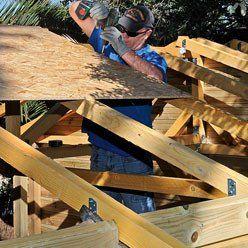 Construire son chalet de jardin de 16 m sur dalle b ton - Dalle en beton pour abri de jardin ...