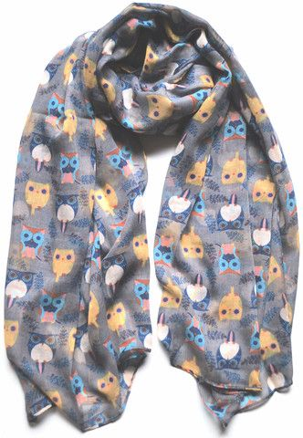 Grey Owl Scarf - The Wee Starfish