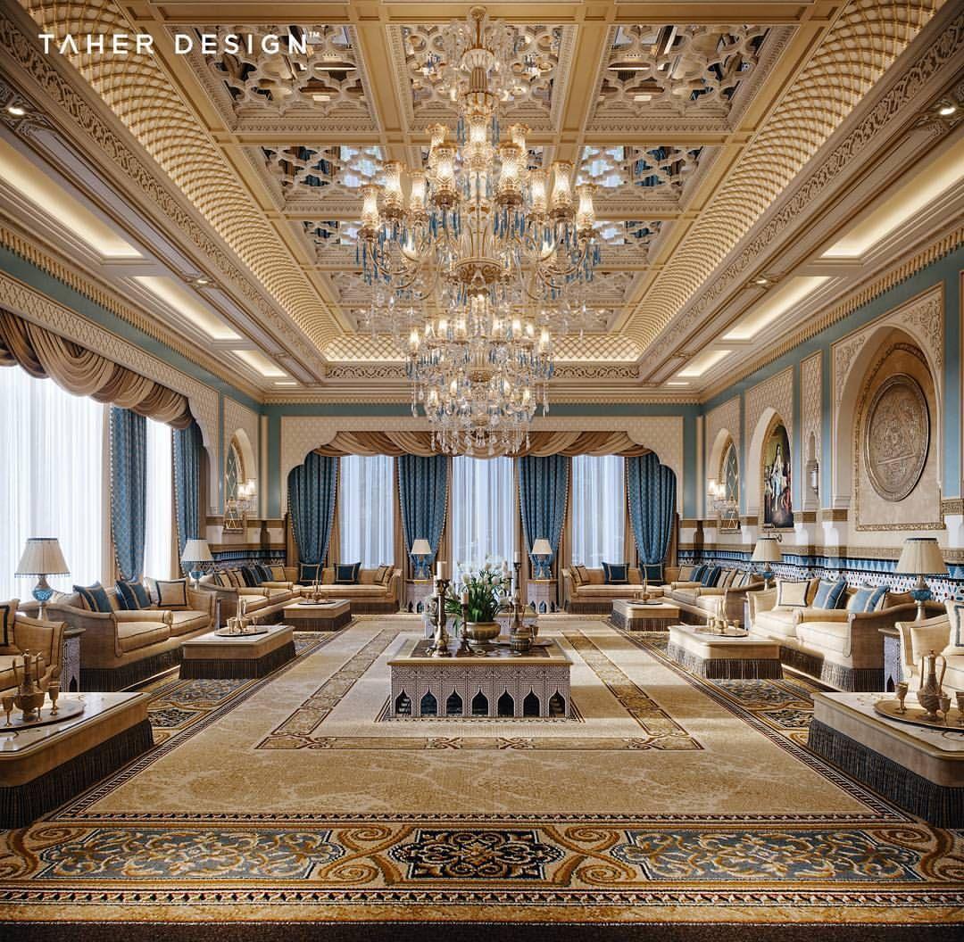 Luxury Residence By Dallas Design: Formal Oriental Majlis By Taher Design Studio For A Villa