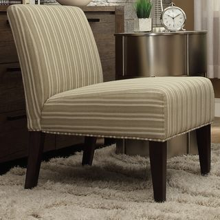 INSPIRE Q Peterson Spring Green Stripe Slipper Chair. Striped ...
