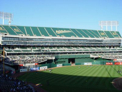A S Oakland Alameda Stadium Mt Davis Seats Tarped Off Oakland Coliseum Baseball Park Baseball Stadiums Parks