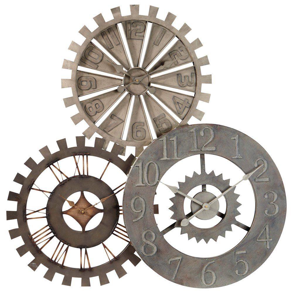Horloge Triple En Métal D 92 Cm En 2019 Horloge Maison Du